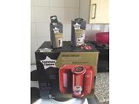 Red tommee tippee prep machine with new filter and milk lids