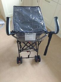 Black Babyway Park Elite Stroller & Raincover - Hardly Used & in original box
