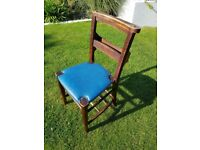 8 x Solid Oak Chapel Chairs