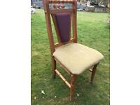 6 pine dining room chairs and table
