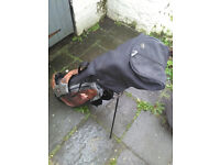 Golf Bag (Self Standing Retractable) with Sixteen Clubs and Ball Retriever