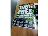 Paint balling tickets rrp £300