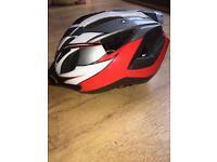 Cycle helmet (unused) Red/White/Black Junior
