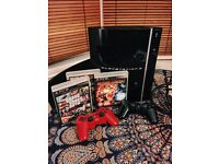 Playstation 3 40GB with 4 Games, 2 Controllers, Cables