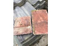Red reclaimed roof tiles