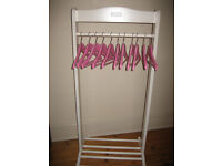 Childs Dressing Up Rail with Hangers
