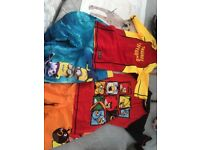 Boys summer rash vest sets-minions angry birds 9-10