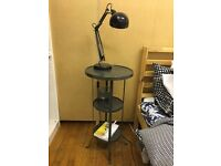 Dark Gray/Black metal bedside table in perfect condition