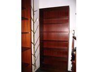 shelving unit with 7 shelves, bookcase - storage cabinet, mahogany