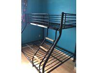 Black Metal Triple Sleeper Bed