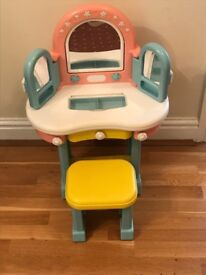 Toy dressing table and stool