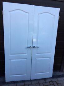 Internal double wooden doors