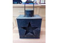 Antique Masonic Metal Lantern with Red Star Glass Front Living Room Dining Room Collectable Historic