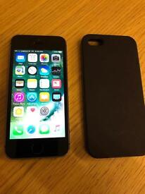 iPhone 5S Space grey Vodafone/Lebara with case