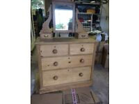 Aged (Maybe Antique) Pine Chest of Drawers