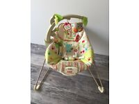 Fisher Price Babies Bouncy Chair Musical Vibrates VGC