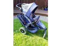 Phil&Teds Sport Double Buggy + footmoof + raincover + second seat