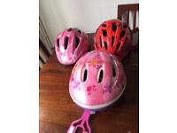 Kids Cycling Helmets x 3 - Girls/Boys