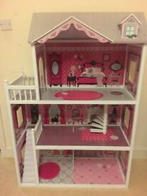 Large 3 Floors Wooden Doll House