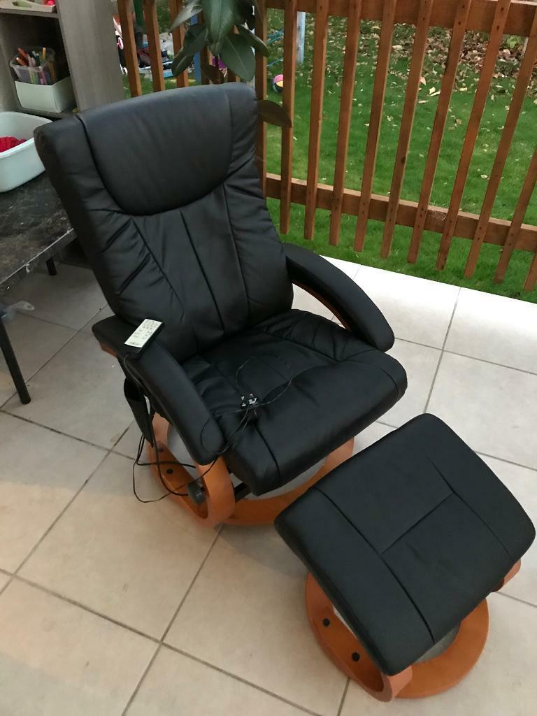 Leather massage armchair with footrest......only 100 pounds