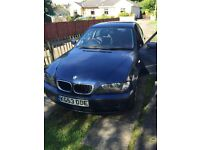 BMW 318i for sale in great condition, long MOT, 53 plate