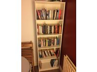 Tall white Ikea Gersby bookcase £10