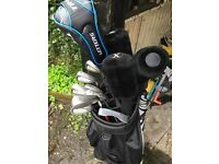 Full set of King Cobra SZ Irons & assorted woods, bag, 50 balls to plus tees
