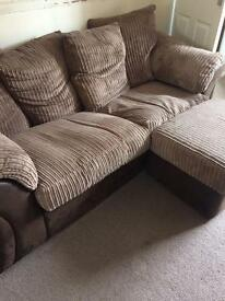 DFS 3 seater Sofa & foot storage