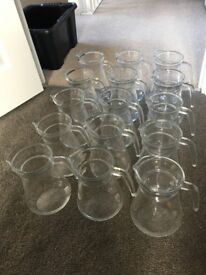 15 x Brocca Glass Water, Cocktail and Pitcher Jugs (used)