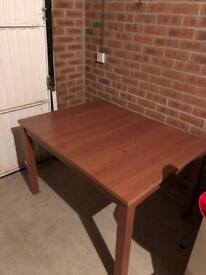 ***EXTENDABLE DINING TABLE AND 4 CHAIRS***