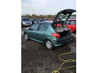 Peugeot 206 5 door in vgcondition good driver cheap runaround any trial mot bargain metallic green