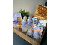 Lansinoh Momma NaturalWave Breastfeeding Baby Bottle Bundle