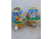 Winnie the Poo bedside lamps Pair plus light shade