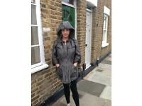 Burberry metallic/shell jacket size 10