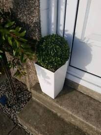 Artificial topiary ball garden plant in pot