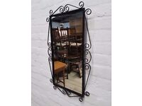 Wrought Iron Mirror (DELIVERY AVAILABLE)