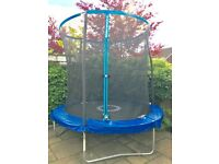 SPORTSPOWER 8FT Quad Lok Trampoline with Easi Store Enclosure and Flip Pad
