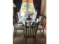 Quality 6 chairs and table excellent condition