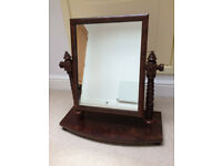 Vintage Edwardian Mahogany Dressing Table Mirror