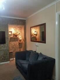 Excellent condition 3 & 2 seater dark grey fabric sofa!!!