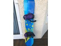 Burton V-Rocker 155cm Snow Board - Including Bindings