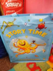 Story books in bag