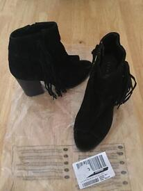 Suede tassel boot size 3
