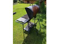 Oil drum BBQ - two cooking surfaces