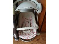 As new baby girls chair swing mamas and papas