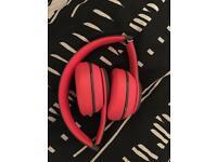 Beats solo 2 wireless headphones, Grey and siren red