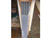 NEW ANTHRACITE VERTICAL SINGLE DESIGNER RADIATOR 1400 X 236MM WIDE IN PERFECT CONDITION £100