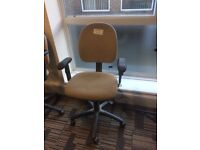 Swivel raisable office chairs beige 4 to clear