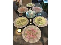 6 large round TKMax silver placemats