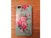 iPhone 4 / 4s cover - vintage floral style like Cath Kidston